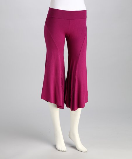 Luna Claire Purple Om Gaucho Pants