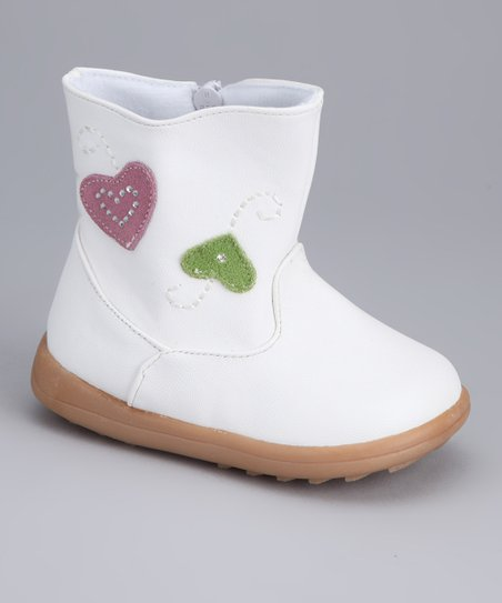 White Heart Boot
