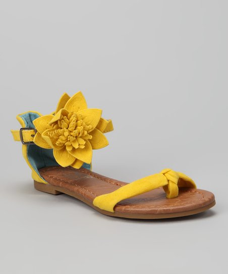 Yellow Marie Sandal