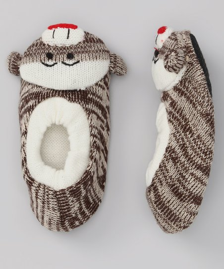 Brown Monkey Slipper - Women & Kids