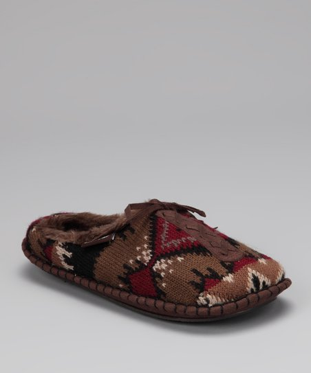 Brown Wild Horses Astrid Mule Moccasin - Women