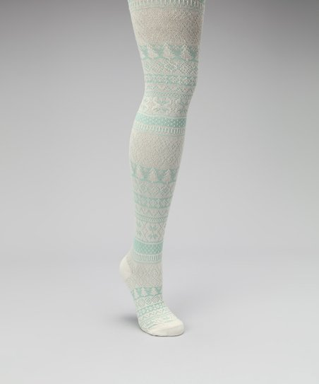 Vanilla & Wintergreen Woodland Nordic Tights - Kids