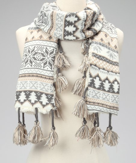Ice Princess Tassel Scarf - Women