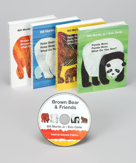 Brown Bear & Friends Board Book & CD Set