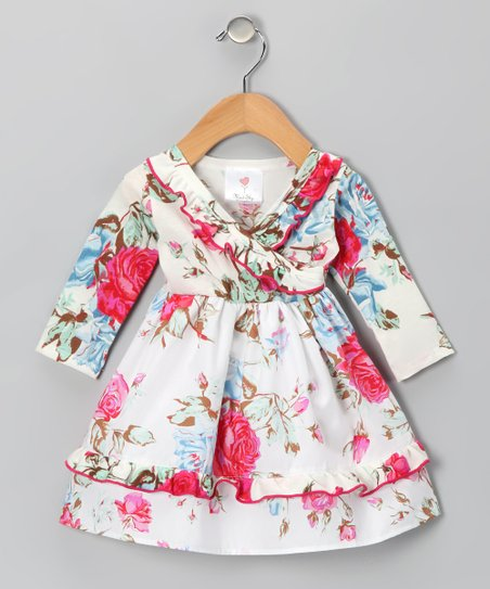Romantic Rose Surplice Dress - Infant & Toddler
