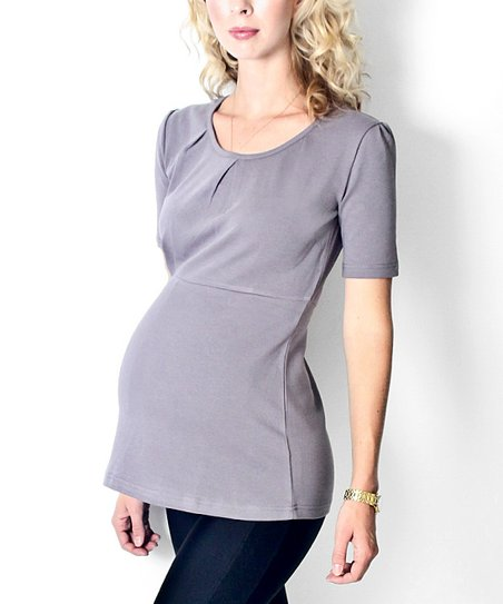 Georgetown Gray Hannah Maternity Top