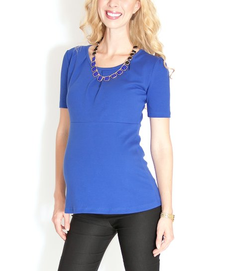 Carolina Blue Hannah Maternity Top