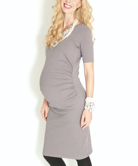 Georgetown Gray Southern Shores Maternity Dress
