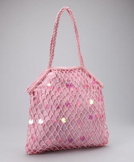 Pink Sequin Tote