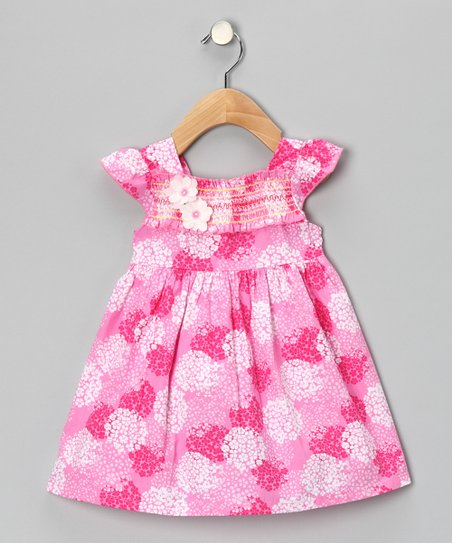 Maggie Peggy Pink Smocked Floral Dress
