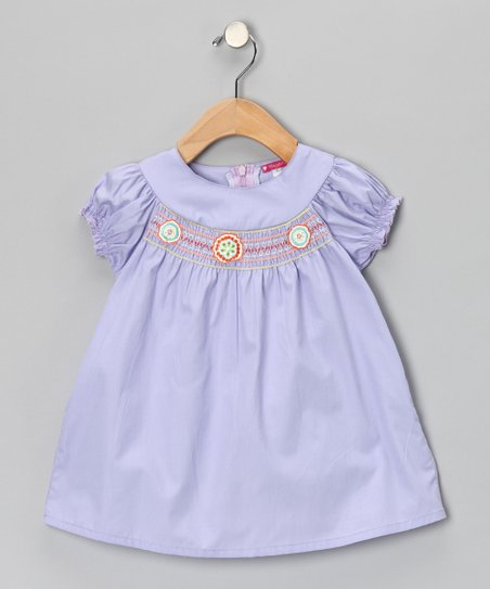 Lavender Smocked Florette Dress - Toddler & Girls