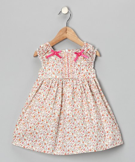 Maggie Peggy Pink Floral Bow Dress