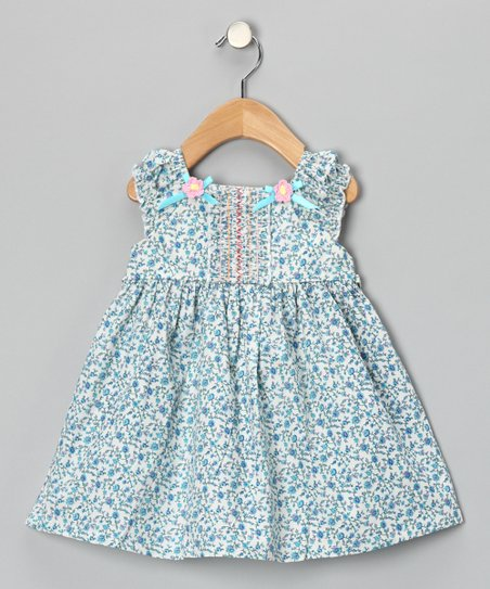 Maggie Peggy Blue Floral Bow Dress