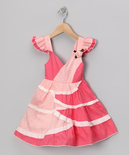 Maggie Peggy Pink Flutter Dress