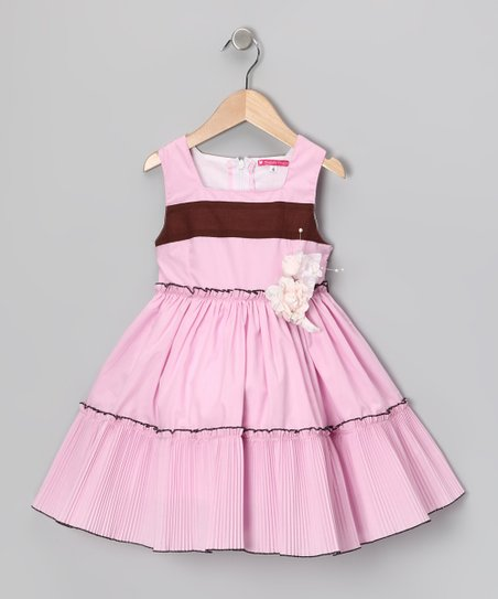 Pink Stripe Dress - Girls