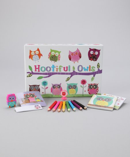Hootiful Owl Stationery Box Set