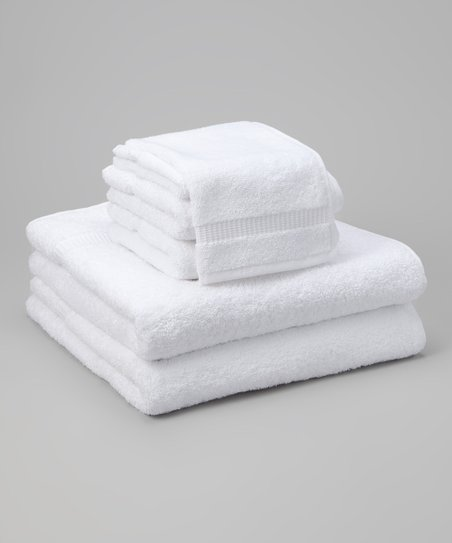 White Cambridge Six-Piece Towel Set