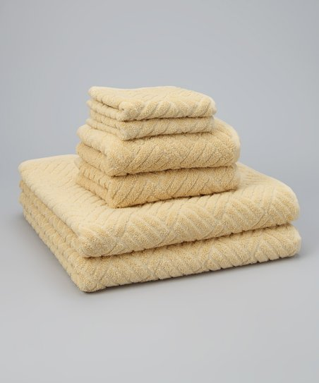 Beige Jacquard Towel Set