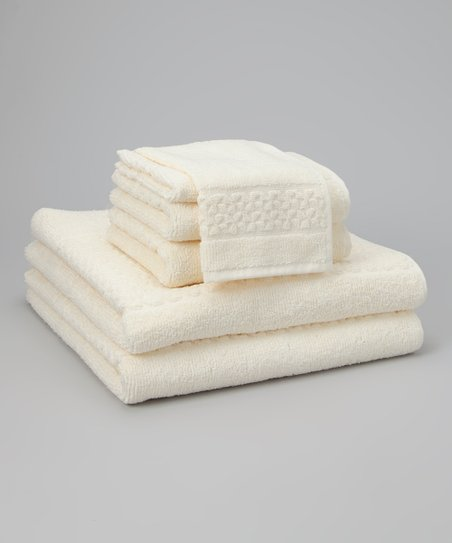 Ivory Jacquard Mei-Tal Six-Piece Towel Set