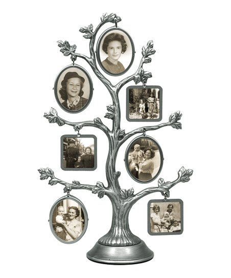 Pewter Family Tree 7-Photo Frame