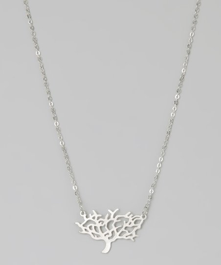 Rhodium Tree of Life Necklace