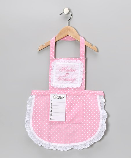 Pink 'Hostess in Training' Apron & Order Pad