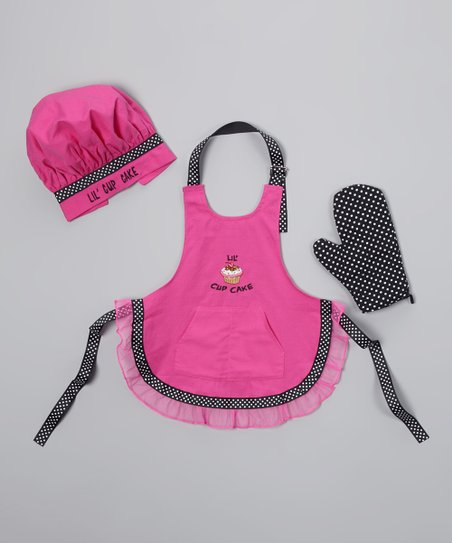 Hot Pink 'Lil Cupcake' Apron Set