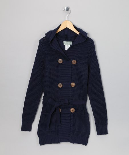 Navy Eva Duster - Girls