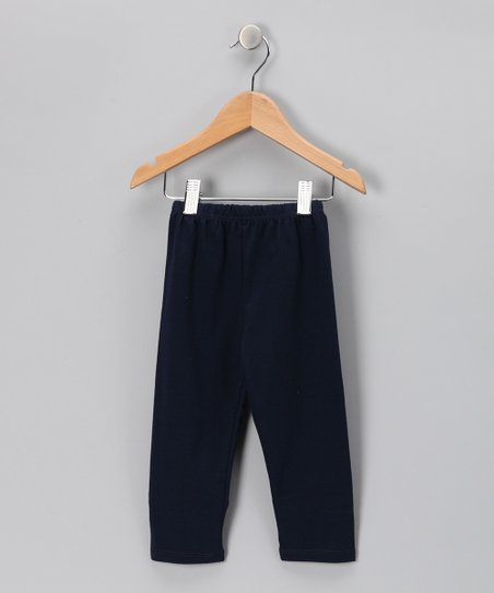 Navy Leggings - Toddler & Girls