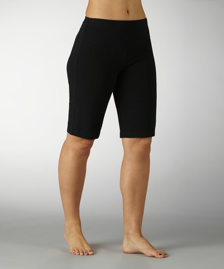 Black Tummy Control Bermuda Shorts