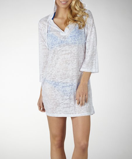 White Hooded Burnout Cover-Up