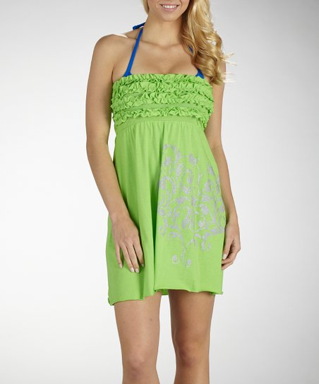 Granny Smith Ruffle Cover-Up