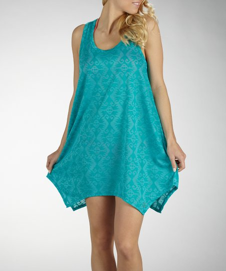 Cerulean Scoop Neck Cover-Up