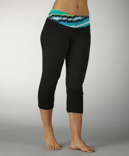 Cerulean Out of Sight Flat-Waist Capri Pants