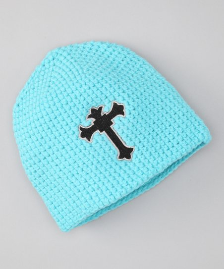 Blue Cross Crochet Beanie