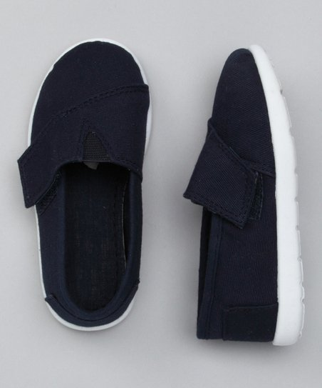 Navy Panel Adjustable Slip-On Shoe