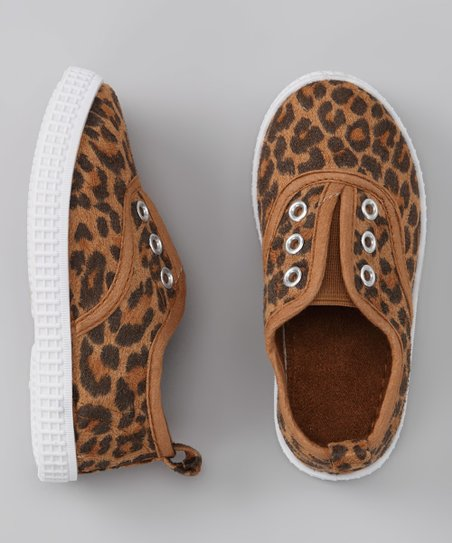 Tan &amp; Brown Leopard Slip-On Sneaker