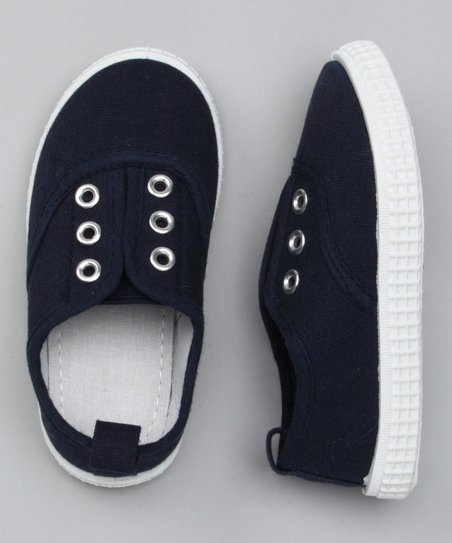 Navy Slip-On Sneaker