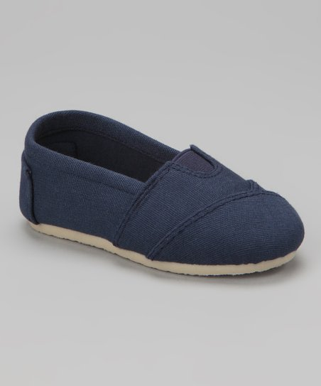 Navy Wrapped Panel Slip-On Shoe