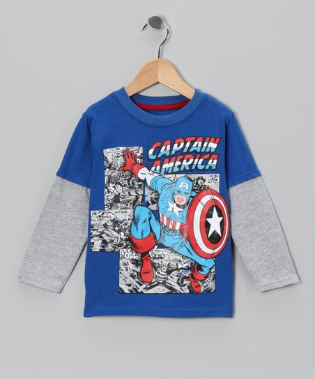 Royal Blue 'Captain America' Layered Tee - Toddler