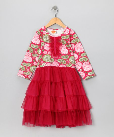 Pink Mambo Paisley Parfait Tulle Dress - Toddler & Girls