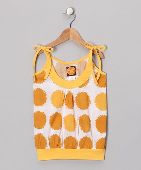 Marigold Yellow Dumroo Tank - Toddler & Girls