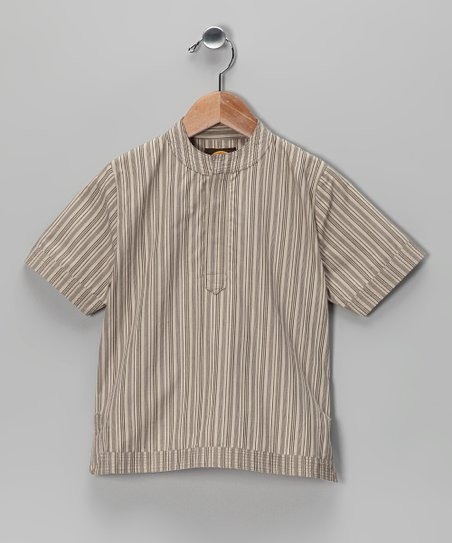 Brown Stripe Tabla Tunic - Toddler & Boys