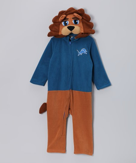 Detroit Lions Fleece Playsuit - Infant & Toddler