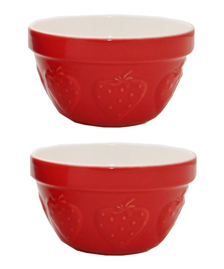 Strawberry 3-Cup Fruit Bowl - Set of Two