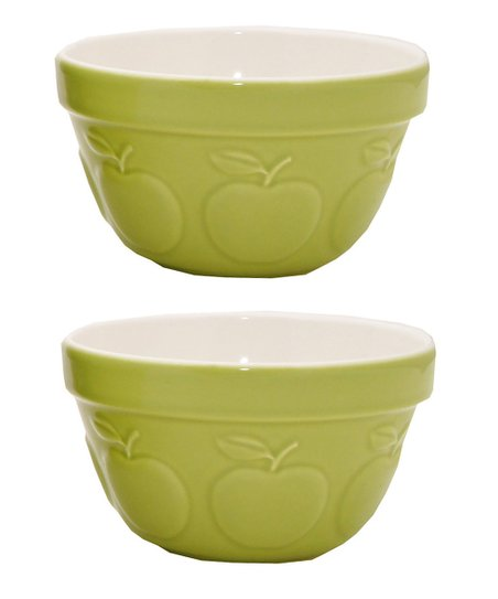 Apple 3-Cup Fruit Bowl - Set of Two