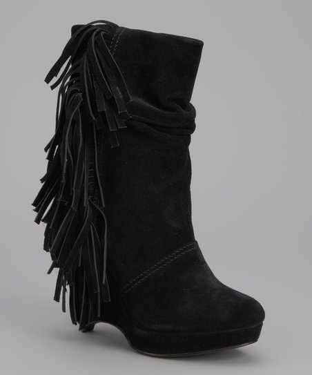 Black Baltic Wedge Boot