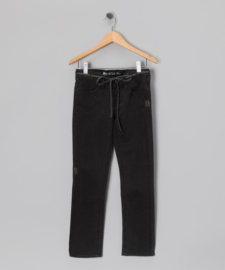 Pure Black Nigel Skinny Pants - Boys