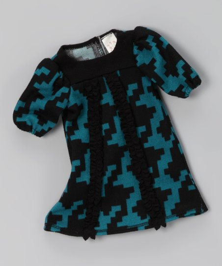 Teal Houndstooth Doll Outfit