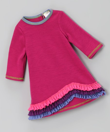 Magenta New Wave Ruffle Doll Outfit